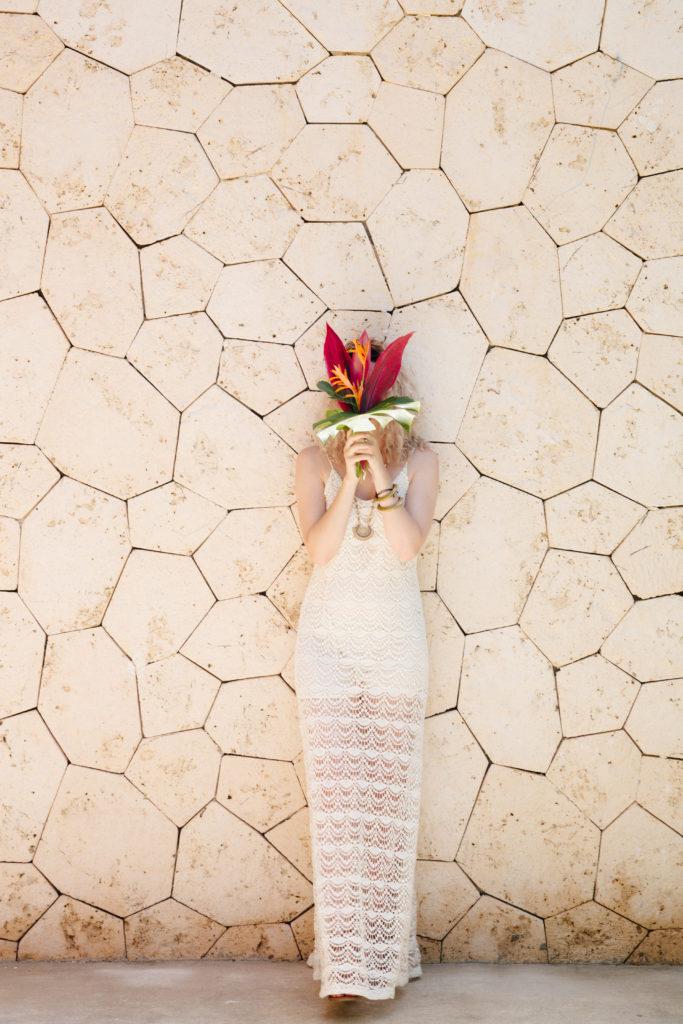 Ramos de novia tropical para boda en México