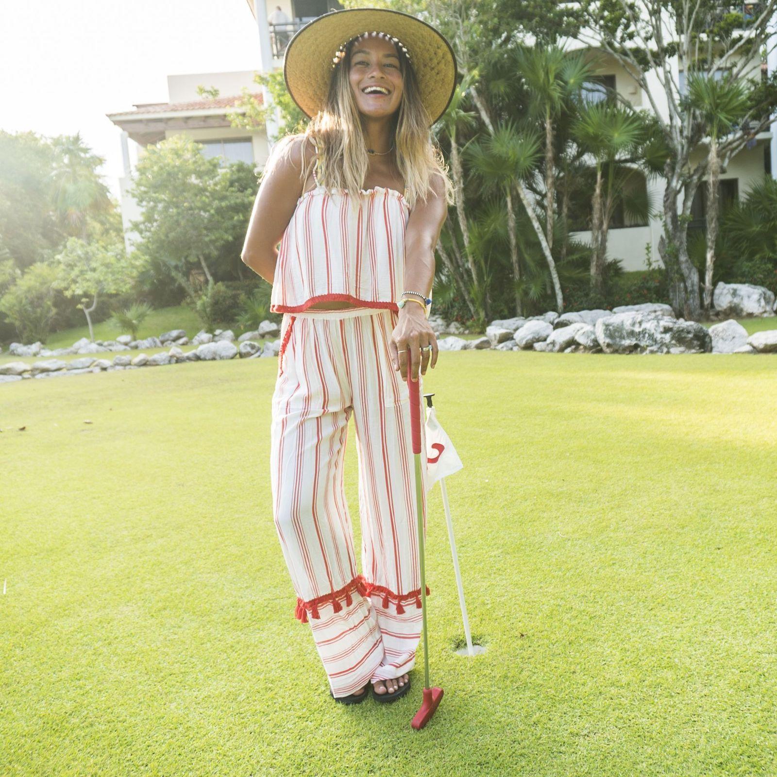 Destinos dónde practicar golf en México en el Occidental Xcaret Destination con Brooklyn Hawaii